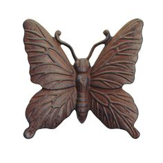 Shop for Verdigris Cast Iron Butterfly Wall Mountable Garden Ornament. Compare live & historic home furniture and decor prices. Animal Garden Ornaments, Butterfly Ornaments, Lawn Ornaments, Butterfly Wall Art, Vintage Butterfly, Paving Stones, Garden Statues, Animal Design, Garden Inspiration