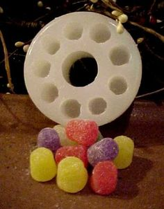 Raspberry Huge Embeds 6 Cavity Silicone Mold 5318 Food-Soap-Candle-Resin-Flexible