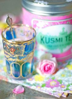 Pretty tea glass