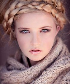 i love the braid and the model... she is so pretty. p.s. thats really me:)