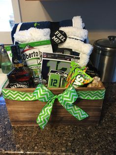 Seattle Seahawks Fan Basket | Donnas Gift Creations | Pinterest ...