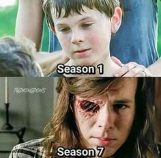 Carl Grimes. Poor kid's been through so much.