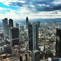 A special attraction in Frankfurt is the viewing platform Maintower. From here, you have an impressive view over Frankfurt!