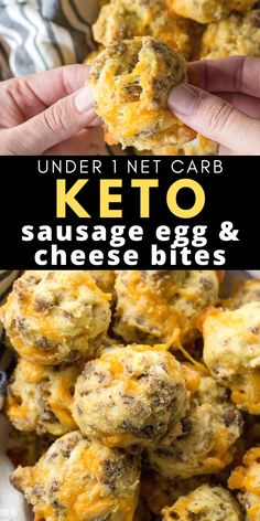 These Sausage Egg and Cheese Bites are the perfect low carb, grab and go, Keto friendly breakfast option! Perfect for an easy meal prep breakfast! Recipes low carb Keto Sausage Egg & Cheese Bites (under 1 net carb) Low Carb Keto, Low Carb Recipes, Diet Recipes, Healthy Recipes, Bread Recipes, Primal Recipes, Paleo Meals, Snacks Recipes, Paleo Food