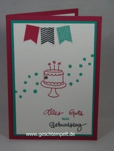 Stampin up Geburtstagspuzzle endless birthday wishes
