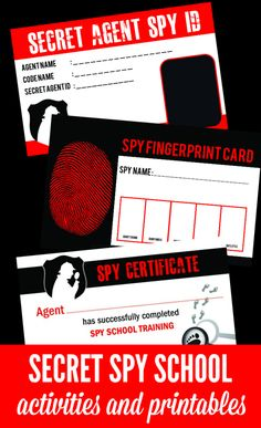 Spy School Kids Activities Spy School Activities for Kids! Everything you need to host a spy themed summer camp at home! Great ideas for birthday parties too! The post Spy School Kids Activities appeared first on School Ideas. Camping Games, Camping Theme, Camping Activities, Summer Activities, Indoor Activities, Family Activities, Free Kids Activities, Camping Foods, Camping Cabins