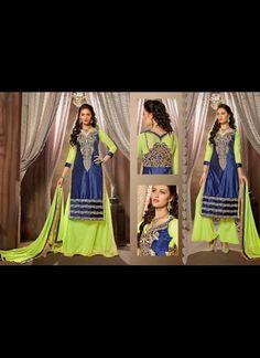 Butta Lime Green Lehenga Choli #lehnga #wedding #bridal #shaadi #women #bride #LehengaCholi #ethnic #wear #desiwedding #asianclothes #bollywood #indian #trendz #indiantrendz