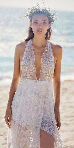 Free People #Wedding Dresses — FPEverAfter #Bridal Collection | Wedding Inspirasi #weddings #weddingdress #weddinggown #bohemian #bohochic