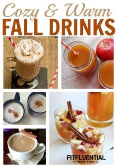 hot drinks for Fall! ready to curl up with some hot cider or snuggle with a mug of hot chocolate? we've got you covered. check out these cozy and warm drink recipe creations for Fall.