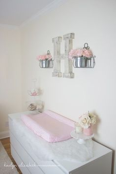 Shabby Chic Nursery - love this sweet space for a baby girl!