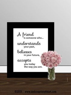Gift for Best Friend Quote Printable Art by WeLovePrintableArt, $5.00