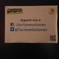 Un altre exemple de com dirigir-nos als perfils socials. En aquest cas, un full precari a Turisme de Solsona #etiquetessocials #Turisme #Solsona #TurismeSolsonès