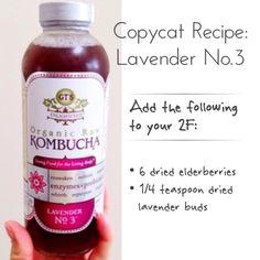 Copycat Recipe: Kombucha 2F flavor idea - GT's Lavender No. 3, uses dried…