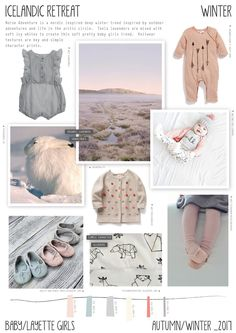 Emily Kiddy: Icelandic Retreat - Autumn/Winter - Baby/Layette Girls Trend Tap the link now to find the hottest products for your baby! Kids Winter Fashion, Kids Fashion, Fashion Fashion, Runway Fashion, Fashion Women, Color 2017, Baby Girls, Baby Layette, Girl Trends