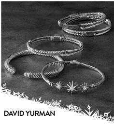 David Yurman: iconic motifs in bracelets made for stacking.