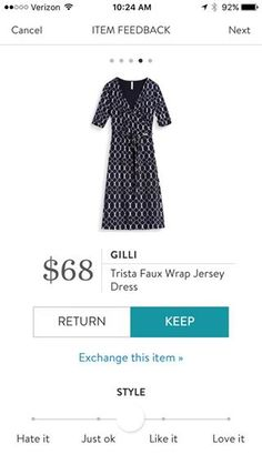 Gilli Trista Faux Wrap Jersey Dress. I love Stitch Fix! A personalized styling service and it's amazing!! Simply fill out a style profile with sizing and preferences. Then your very own stylist selects 5 pieces to send to you to try out at home. Keep what you love and return what you don't. Only a $20 fee which is also applied to anything you keep. Plus, if you keep all 5 pieces you get 25% off! Free shipping both ways. Schedule your first fix using the link below! #stitchfix @stitchfix…