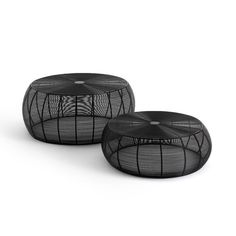Bangor wired steel round coffee tables (set of 2) , black, La Redoute Interieurs | La Redoute Round Coffee Table Sets, Wire Coffee Table, Coffee Table With Storage, Bangor, London Living Room, Home Furnishing Accessories, Wicker Table, Mid Century Living Room, Large Table