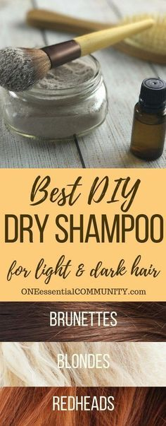 best dry shampoo recipe -- adds volume to hair, gives instant lift to roots, & it smells amazing! customize for blondes, brunettes, & redheads