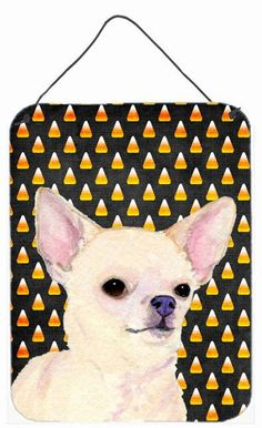 Chihuahua Candy Corn Halloween Portrait Wall or Door Hanging Prints