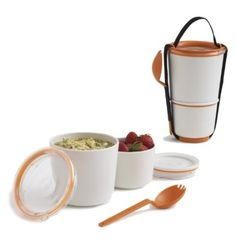 Black + Blum Pranzo Pot, bianco e arancione: Amazon.de: Cucina & Casa