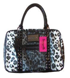 betsy johnson handbags   Betsey Johnson Handbag Kats Eye Satchel Grey   eBay
