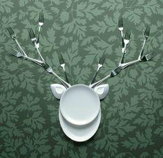 Cerf Fourchette Hirsch Deer