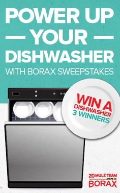 Who could use a NEW #dishwasher? Repin and enter to win from @20 Mule Team Borax !