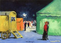 The Circus, Carnival At La Villette Artwork by Kees Van Dongen Hand-painted and Art Prints on canvas for sale,you can custom the size and frame