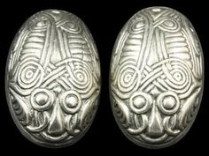 A pair of silver plated tortoise brooches, found in Oldenburg, Germany. And Bornholm Danmark. From the 8-9.century.
