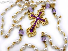Hey, I found this really awesome Etsy listing at https://www.etsy.com/listing/170081728/vigil-5-decade-rosary-necklace-ivory
