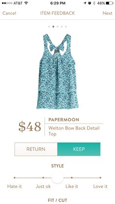 Stitch Fix PaperMoon Welton Bow Back detail top
