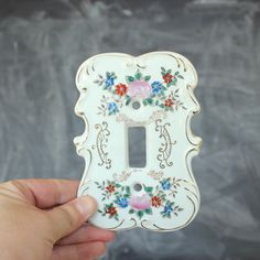 vintage switch plate cover decorative porcelain switch plate cover light switch cover floral ceramic light switch cover switchplate - Decorative Switch Plates