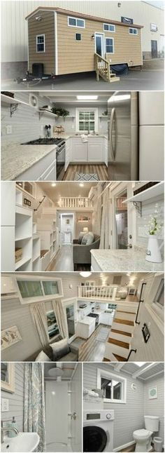 Meet Kate, the 345sf Luxurious Model from Tiny House Building Company - The virginia-based company, Tiny House Building Company, LLC, has released a simple yet gorgeous tiny house called Kate that we can't get enough of! From the outside, you may think this is just another cedar-shake covered boxy tiny house, but you'd be wrong! The inside of this house is unbelievable which is why this lovely lady fetches a price tag of $85,000! #luxurytinyhouse