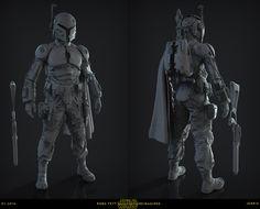 ArtStation - Star Wars Reimagined | Robo Fett Sculpt, J. Mark