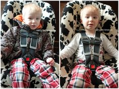 Winter jackets + car seats do NOT mix! Learn some winter car seat safety tips on how to keep your kids safe and warm in the cold winter season!