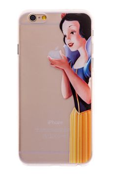 Snow White Transparent Back Cover Case for iPhone 6