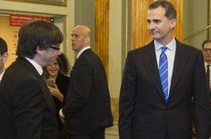 El Rey y el president de la Generalitat coinciden por primera vez en la inauguración del Mobile en el Liceo