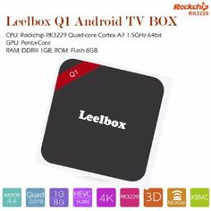Leelbox Q1 Kodi 16.0 Pre installed Miracast RK3229 Quad-core Cortex A7 1.5GHz Android TV Box