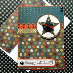 Birthday Card with Matching Embellished by SewColorfulDesigns, $4.50