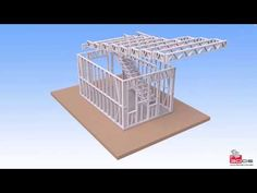 Light Steel Frame 3dds - YouTube