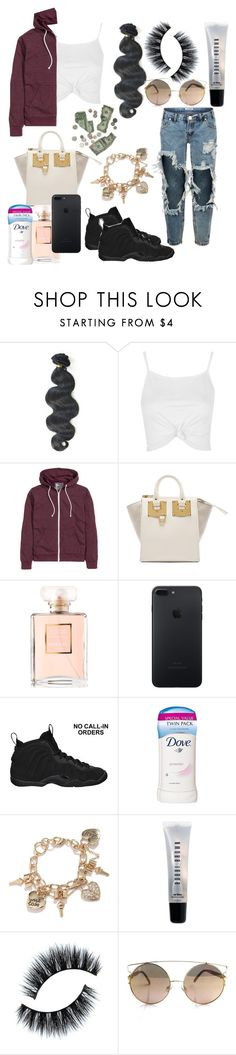 """""""eh."""" by unoriginaldes ❤ liked on Polyvore featuring &K, Topshop, H&M, Sophie Hulme, Chanel, NIKE, Dove, GUESS and Bobbi Brown Cosmetics"""