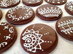 Henna Design cookies by ShanisSweetCreations on Etsy, $48.00