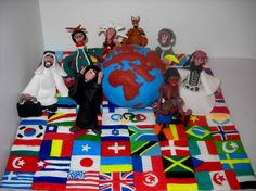 Peace to the world - Plasticine art