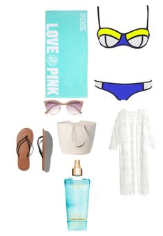 """Beach"" by margot-52 ❤ liked on Polyvore featuring H&M, Abercrombie & Fitch, River Island and Doug Johnston"