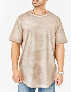 eb4bbf98135d MVP Collections' Khaki Curved Hem Tee is the latest trend in Big & Tall