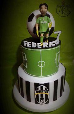 Juventus cake - Cake by D'Adamo Cinzia Football Birthday Cake, 5th Birthday Cake, Birthday Cakes For Men, Football Cakes, Soccer Cake, Soccer Party, Torta Blaze, Best Birthday Surprises, Cute Cakes