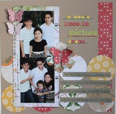 Scrapbook layout using butterfly punch