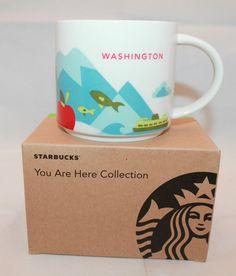 Starbucks-Coffee-You-Are-Here-Collection-Washington-State-14-oz-Mug-Cup-New✔️