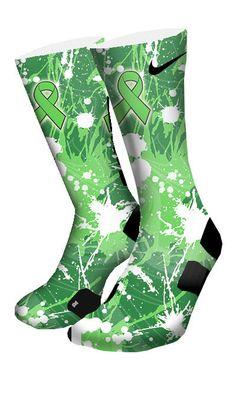 Non Hodgkin's Lymphoma Custom Elite Socks