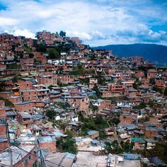 The view from above Medellin Colombia